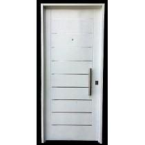 Puerta Chapa Inyectada Color Blanca Libermet