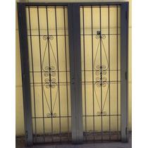 Puerta Reja Linea Premium Doble Hoja C/marco Colony