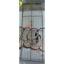 Puerta De Frente Doble De Reja Con Rizos