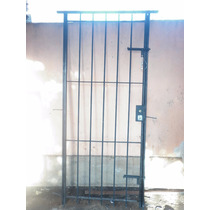 Puerta Reja Del 12 80x200 C/marco 2 Pasadores Y Cerradura