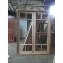 Puerta Balcon De Abrir De 150x200 De Cedro Con M/madera