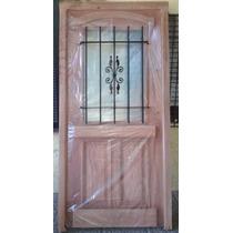 Puerta Cedro 90x200 C/vidrio Extra Porch