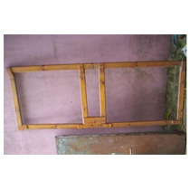 Puerta Barnizada Vaiven Para Tejido-vidrio-madera 194x75