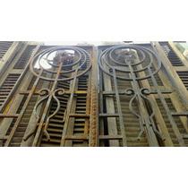 Atelier Puerta Entrada 2hojas Hierro Antigua 1.22 X 3.08