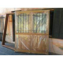 Puerta Doble En Cedro 160x200 C/vidrio C/envio Extra Porch