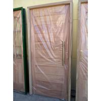 Puerta Madera Exterior Cedro 80x200 Pm-001 Envio Gratis