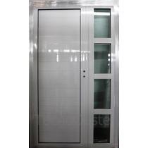 Aberturas Aluminio Blanco Puerta Y Media Exterior 120x200 Cm