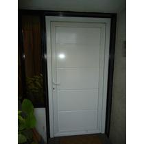 Puerta Exterior Pvc Blanco Ranurada 0.90x2.00