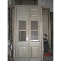 Puerta Antigua Interior Doble Hoja Vidriada