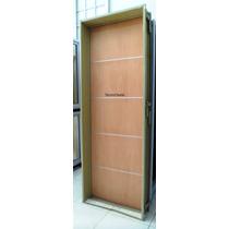 Puerta Placa Cedro Apliques Aluminio 60-10 Marco Ch18 Pesado