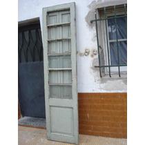Antigua Puerta De Madera Sin Marco- 2,31 X 60,8cm