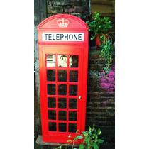 Puerta Abertura Cabina Telefónica Inglesa Mdf Símil Laqueado