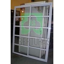 Aberturas: Ventana Balcon Alum Blanco Rep Horizontal 150x200
