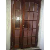 Puerta Doble Hoja De Cedro Con Vidrio Repartido