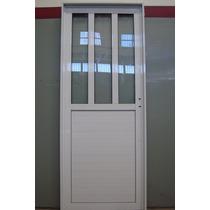 Puerta Aluminio Blanco Pesada 080*200