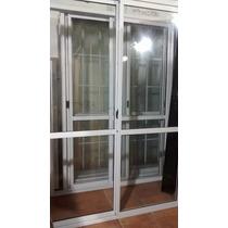 Puerta Balcon Aluminio Blanco 200x200 Con Vidrios