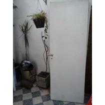 Puerta Placa Madera S/cerradura Blanca 70 X 2m 4grueso