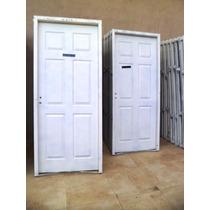 Puerta De Doble Chapa Inyectada Lisa 0.80 X 2.00 Mts