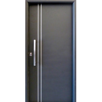Aberturas Puerta Nexo Deluxe 2 Apliques Gris Plomo 90x205 Cm