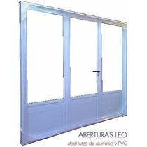 Porton Para Garage De Aluminio Reforzado 3/4 Vidrio 240x200