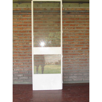 Puerta Mosquitero Ho16 Pintada Blanca Impecable