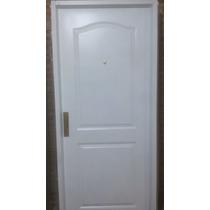 Puerta Doble Chapa Inyectada 2 Tableros 80x200 Con Manijon