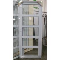 Aberturas: Puerta Aluminio Blanco Rep Horizontal 0,80 X 2,00
