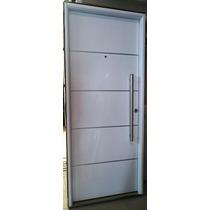 Puerta Entrada Pavir Futura Pintura Final Blanca 80x200 Cm