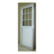 Puerta Aluminio Exterior 1/2 Vidrio Repartido 80x200