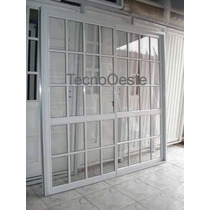 Puerta Ventana Balcon Corrediza Aluminio Blanco 200x200.