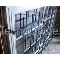 Ventana Aluminio Blanco Vidrio Repartido 120x110 Reja Del 12