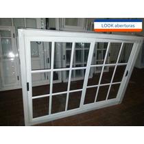 Ventana Vidrio Repartido 150x110 Aluminio Bco Fabricantes