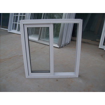 Ventana Aluminio Bco Vidrio 4 Mm 100x110 Vidrio Entero