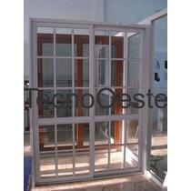 Puerta Ventana Balcon Corrediza. Aluminio Blanco 150x200.