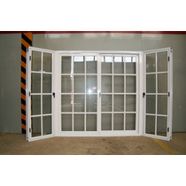 Bow Windows Aluminio Blanco Con Vidrio