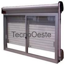 Ventana Aluminio Blanco 120x110 Completa C/ Vidrio Y Cortina