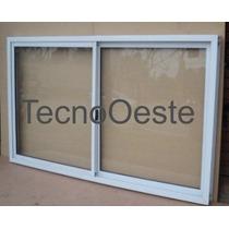 Aberturas Ventanal Aluminio Blanco E-poxy 200x90 Vidrios
