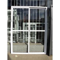 Puerta Ventana 1.50 X 200 Aluminio Blanco V/entero C/vidrio