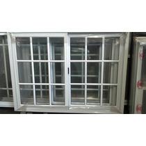 Ventana Aluminio Blanco Vidrio Repartido 120x110