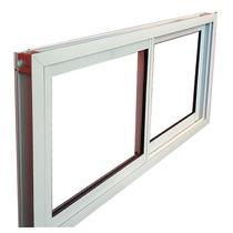 Ventana Abertura Aluminio Vidrio 3mm Blanco Reforzado 120x60