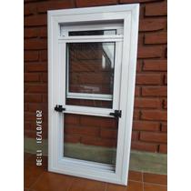 Ventana Guillotina Aluminio Blanco 50x100 Linea Herrero