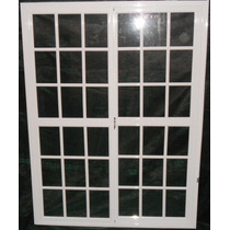 Puerta Ventana Balcon Vidrio Repartido 2x2 Aluminio Blanco