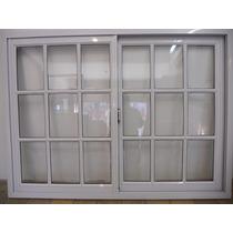 Ventana De Aluminio 150 X 110 Vidrio Repartido Horizontal