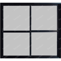 Puerta Ventana Balcon Aluminio Negro Vidrio 4mm 150 X 200