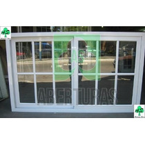 Ventana Aluminio Blanco Repartido 1,50 X 0,90 C/vidrio