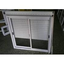 Ventana Aluminio Blanca 150*110 Con Vidrio, Guía Y Persiana