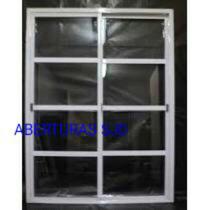 Puerta Balcon Aluminio 200x200 Vidrio Repartido Horizontal