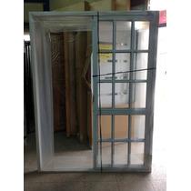 Ventana De Aluminio Blanco 150x200 Vidrio Repartido