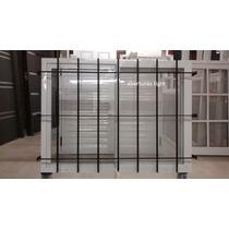 Ventana Alum Blanco 120 X 110 Cm Vidrio Entero Y Reja