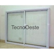 Ventanal Aluminio Blanco Vidrio Entero 200x150 Con Vidrios